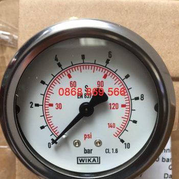 Đồng hồ đo áp suất Wika chân sau