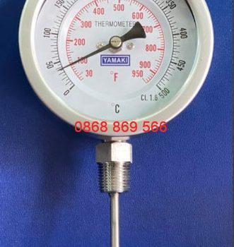 Đồng hồ đo nhiệt độ Yamaki chân đứng