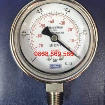Đồng hồ áp suất Yamaki chân inox