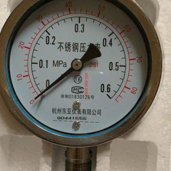 Đồng hồ đo áp suất Trung Quốc 0.6MPA