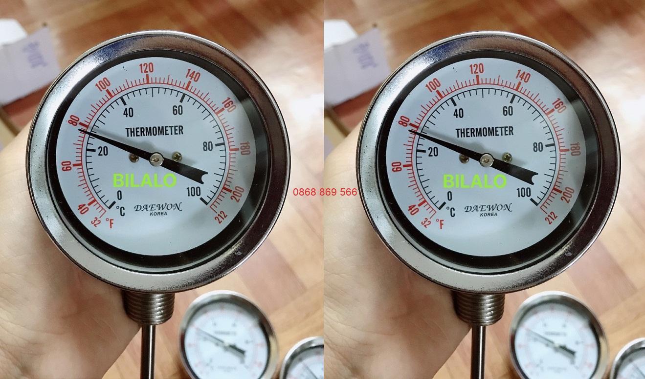 Đồng hồ đo nhiệt độ chân đứng Daewon chân đứng