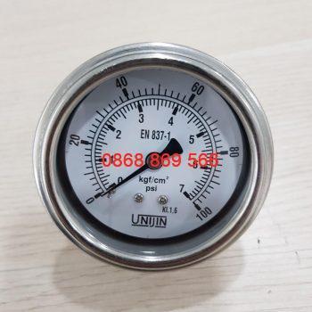 Đồng hồ đo áp suất Unijin chân sau