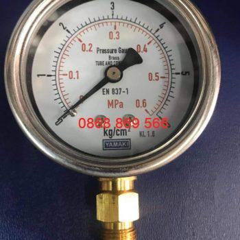 Đồng hồ đo áp suất Yamaki chân đồng
