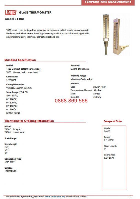 Catalog Unijin T400